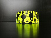 Yellow Mouse Print - Whippet Leather Collar - Size S/M